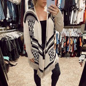 Tribal Print Sweater Cardigan